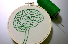 Brain Embroidery by Hey Paul Studios