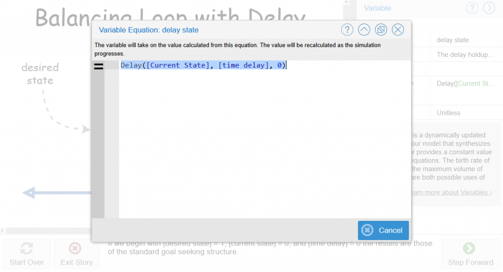 Figure 6 Equation dialog box