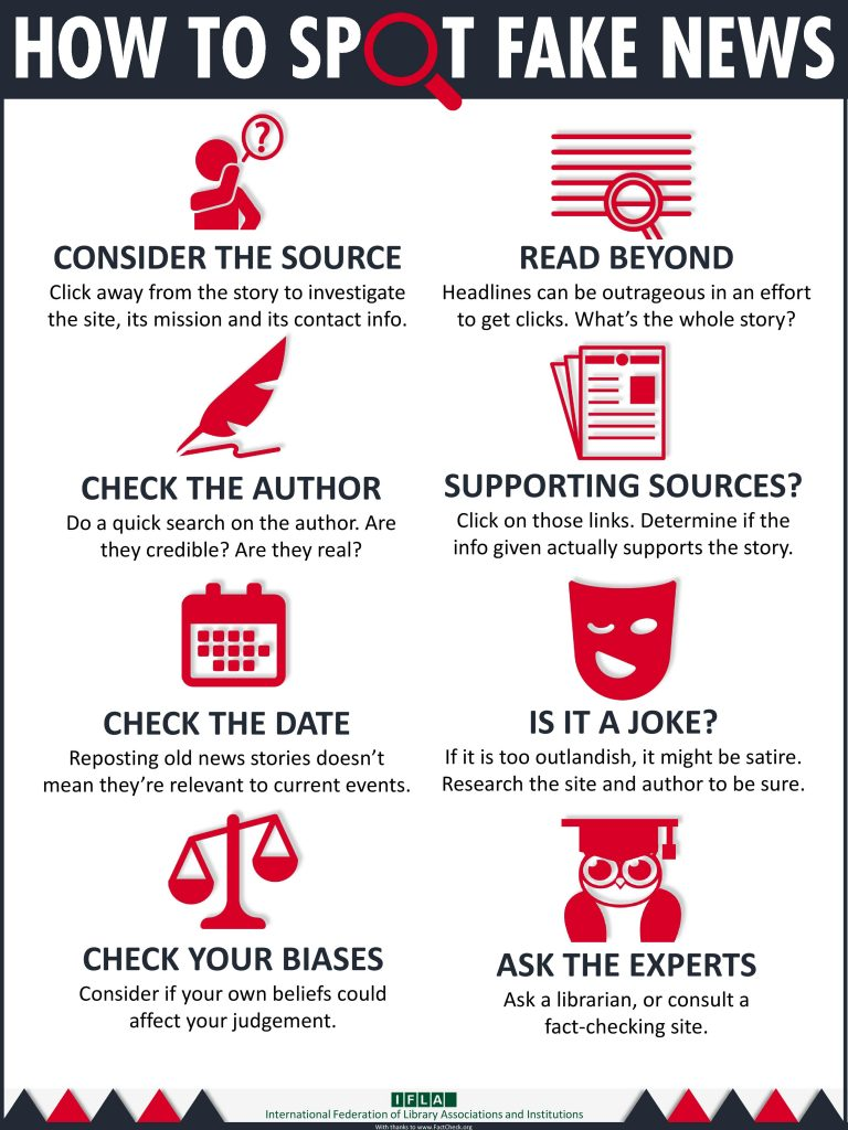 How to spot fake news