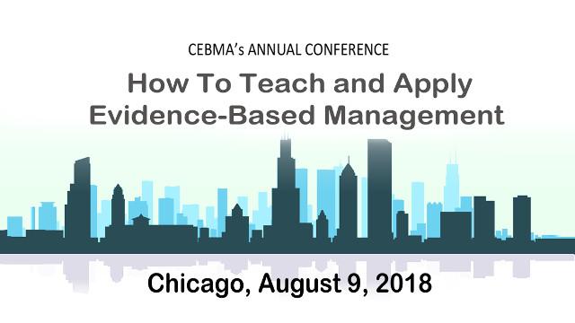 CEBMa 2018 Conference