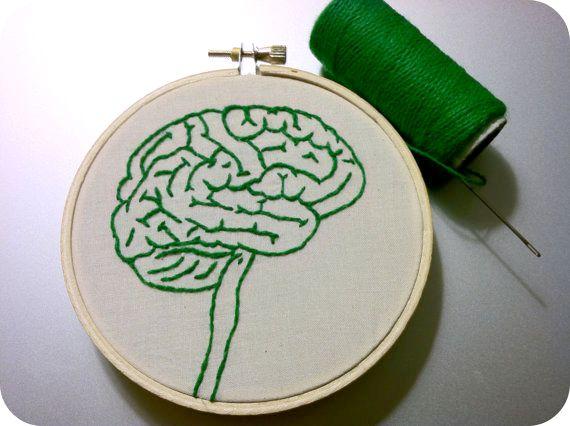 Brain Embroidery by Hey Paul Studios