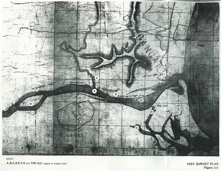 1822 Survey Plan Lower Shoalhaven River Estuary