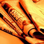 Newspaper fire orange by Jon S