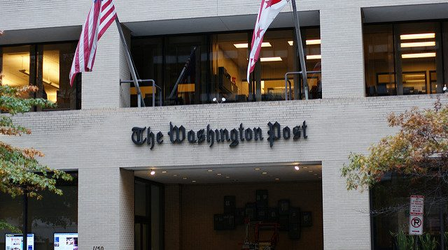 The entrance to the Washington Post on 15th street Northwest DC by Dion Hinchcliffe