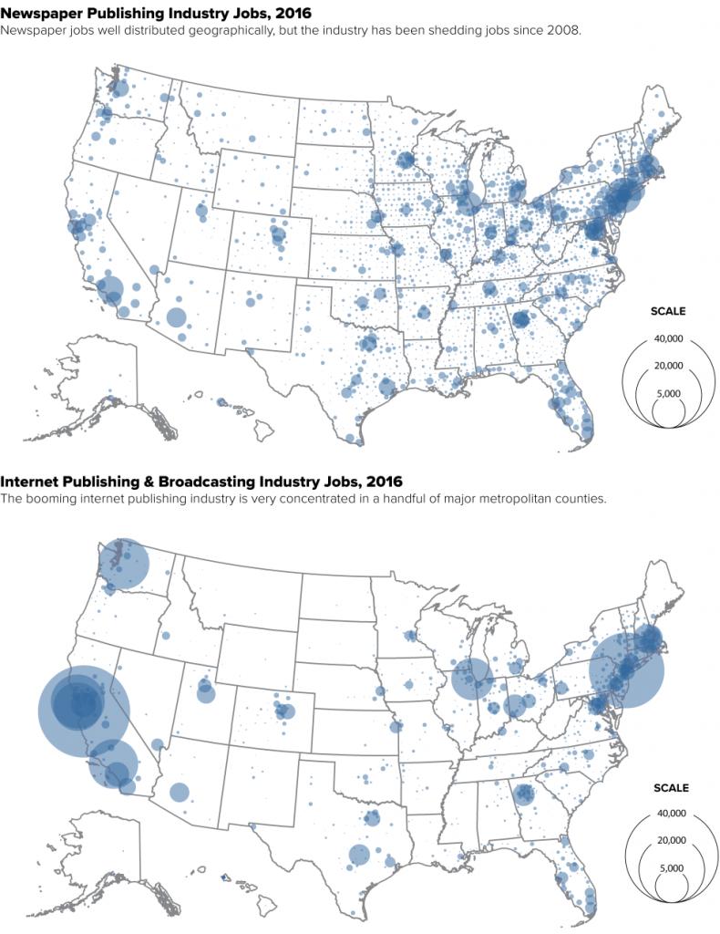 News industry jobs 2016