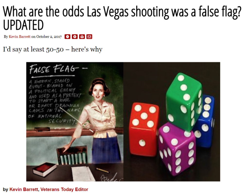 What are the odds Las Vegas shooting was a false flag?