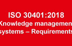 ISO 30401 Knowledge management systems – Requirements