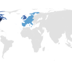 Blue countries represent the locations of 93 percent of studies published in Psychological Science in 2017