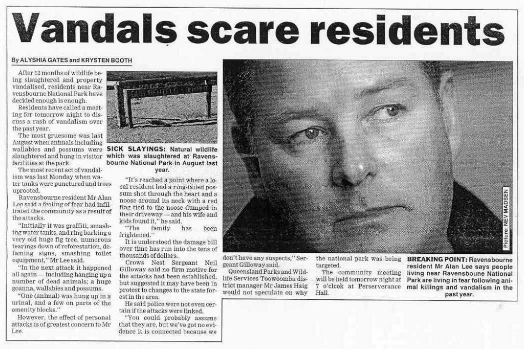 Vandals scare residents