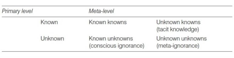 Crucial components of metacognition
