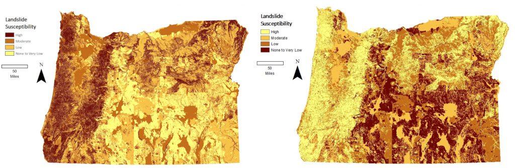 Oregon landslide susceptibility