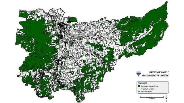 Gatton Shire Biodiversity Areas Overlay Map