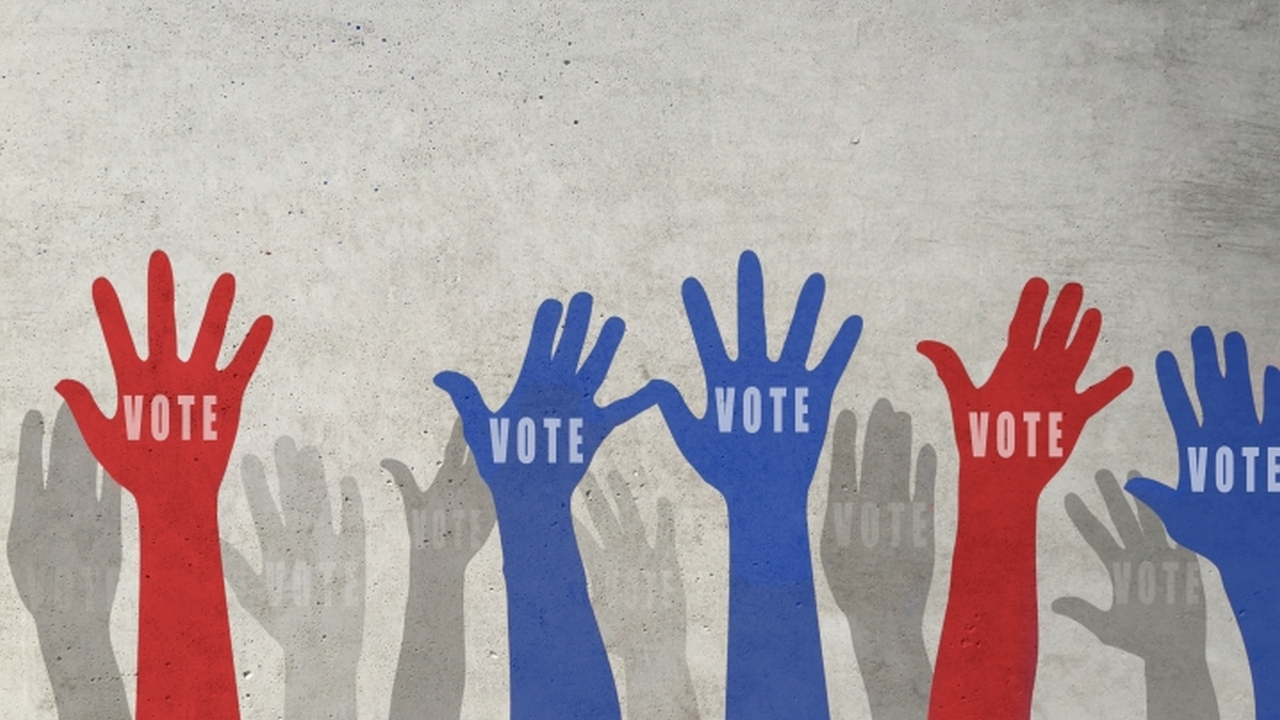 Voting hands
