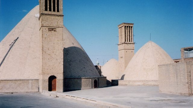 An Ab Anbar cistern in a qanat water system, located in the Iranian desert city of Naeen