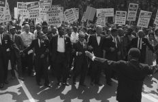 Photograph of Leaders at the Head of the Civil Rights March on Washington, D.C.
