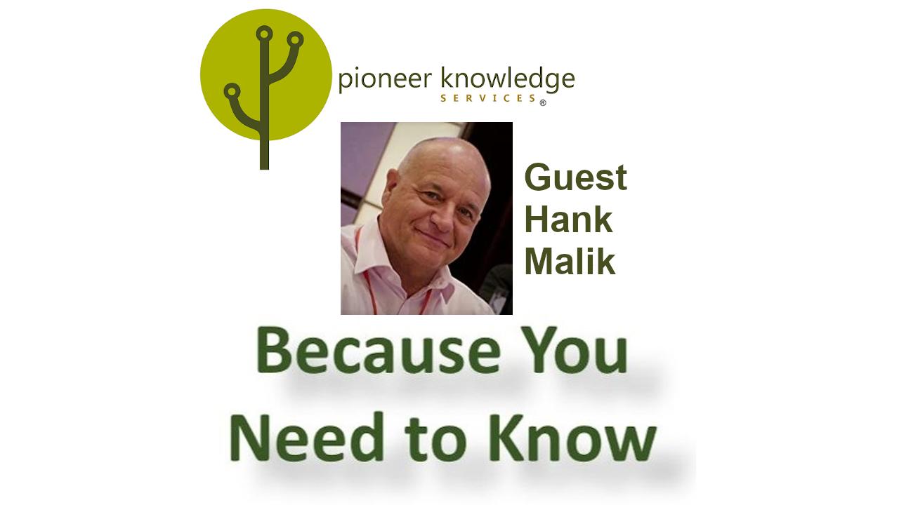 Because You Need to Know - Hank Malik