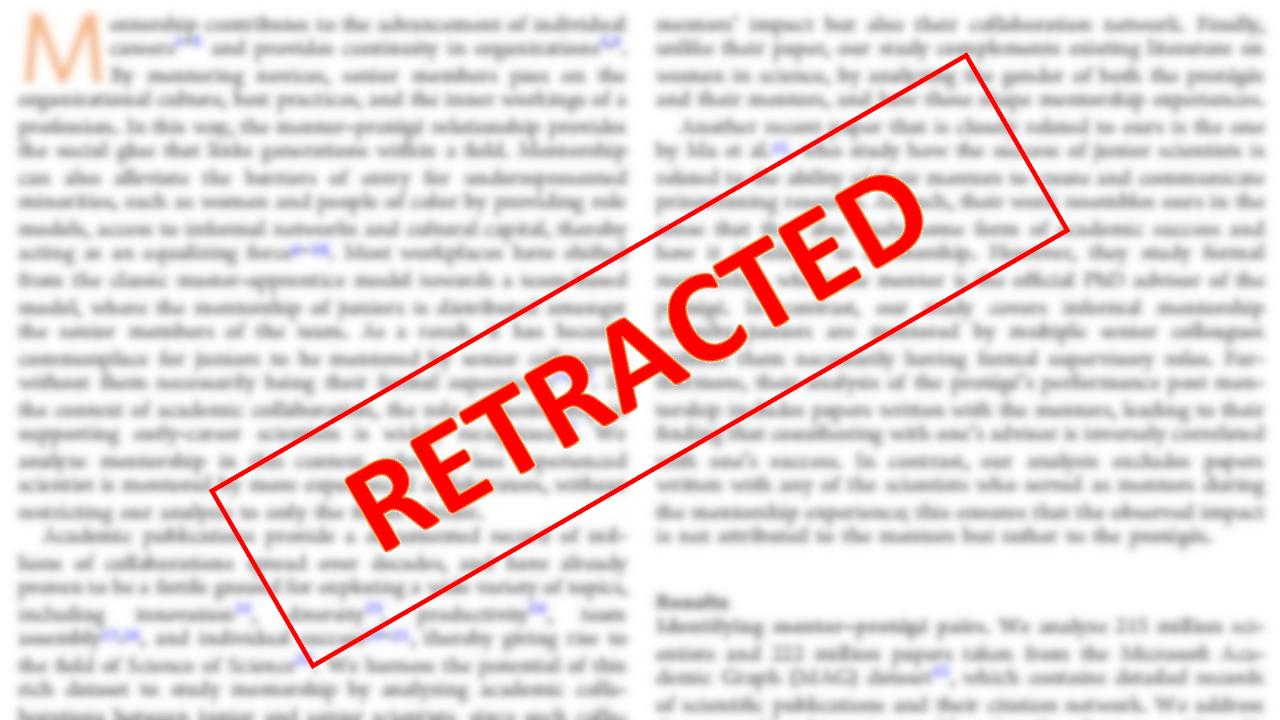 Retracted journal article