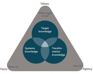 Three types of knowledge and the relationship with facts, values, and agency