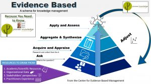 Evidence-based schema for knowledge management