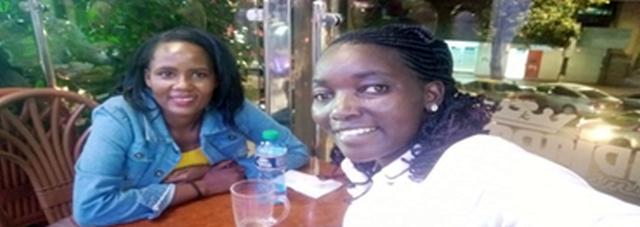 Ngina and Gladys during their Knowledge Café at Kilima Njaro