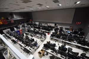 Floor sits empty as command and control of air power is temporarily transferred