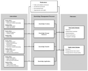 A conceptual map of family-firm knowledge management research
