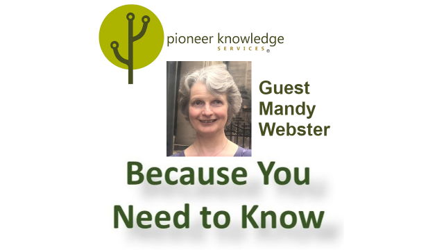 Because You Need to Know – Mandy Webster