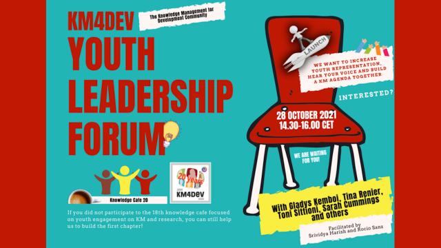 KM4Dev Youth Leadership Forum