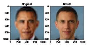Algorithmic bias in action: 'depixelising' software makes a photo of former US president Barack Obama appear ethnically white